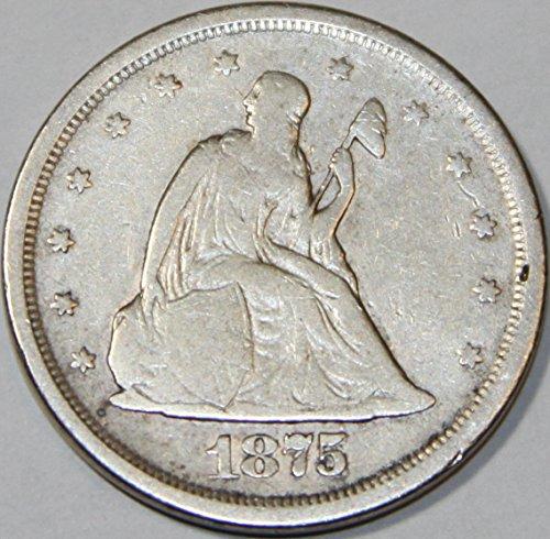 1875 S Seated Liberty Twenty Cent Piece F12