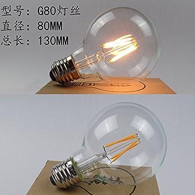 La lampe vintage edsion LEDE27 ampoule à vis de tungstène retro lampe LED transparent ST64 2W4W,6,G80 LED à faible consommation d'énergie, jaune chaud