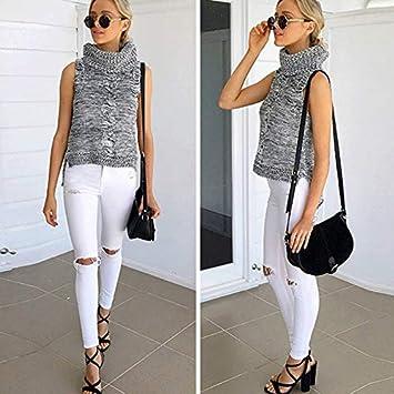 c0580e2a8e5c1 Amazon.com: Autumn Water Ripped Long Jeans Women Boyfriend Jeans ...