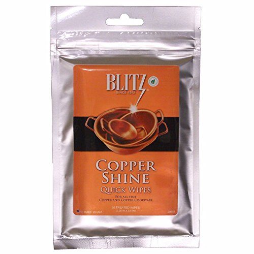 Blitz Copper Shine Shine Quick Cleaning Wipes - 30ct