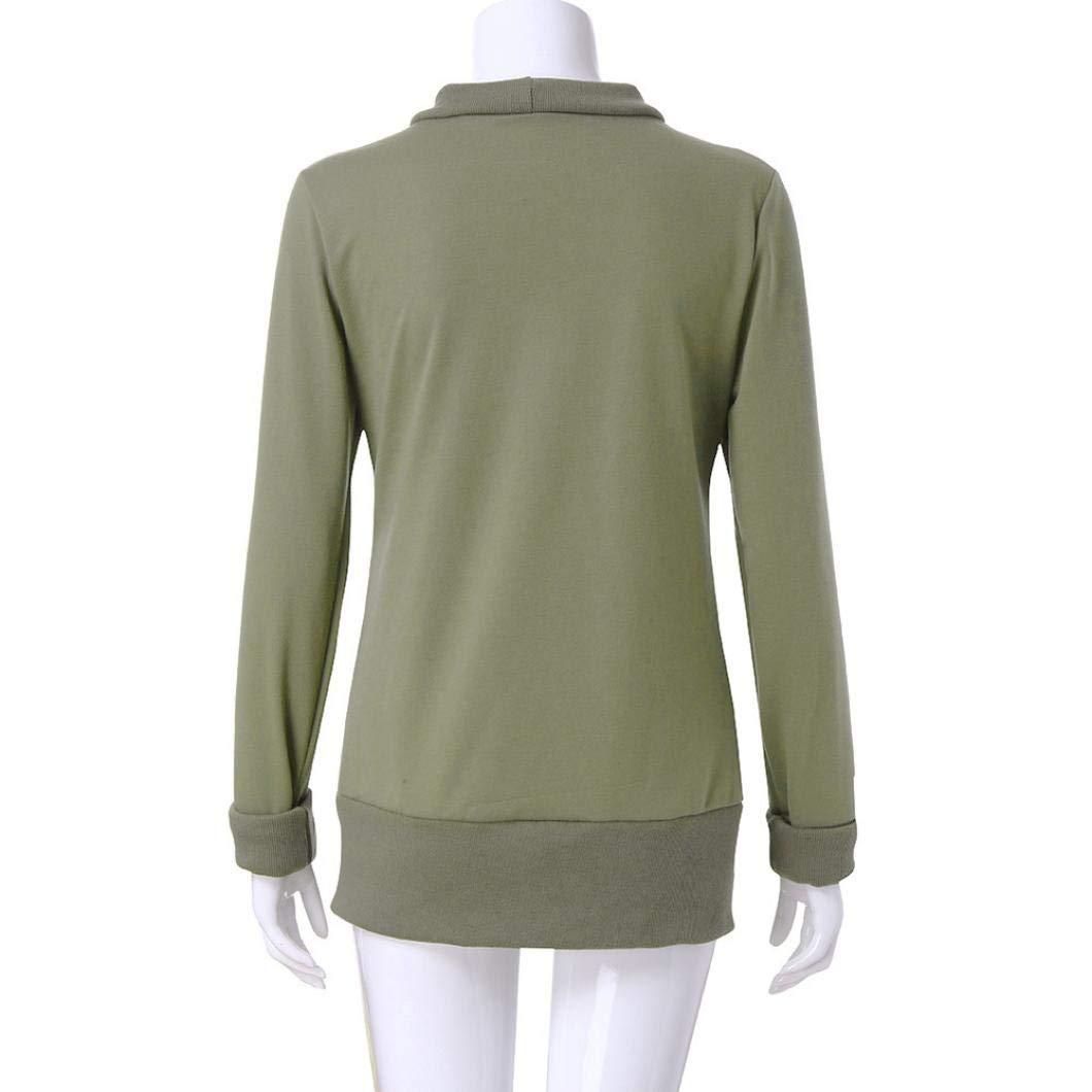 JiaMeng de Blusa, Camisetas Mujer Jersey con Cuello en V y Prendas de Punto Camisa de Manga Larga Top Blusa Camisetas Mujer Tops: Amazon.es: Ropa y ...