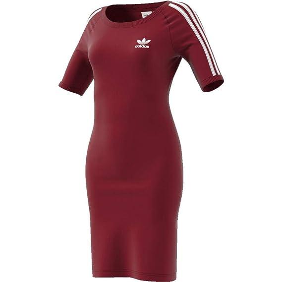 site réputé c5687 f24ab adidas 3 Stripes Vestito Donna Bordeaux: Amazon.co.uk: Clothing