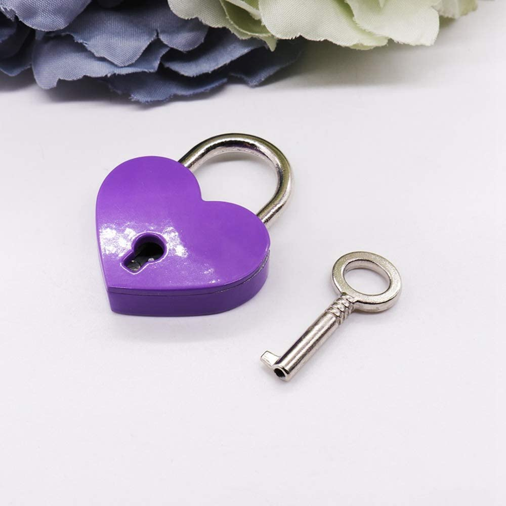 Turbobm Vintage Love Heart Lock Candado en Forma de coraz/ón Mini candado con Llave Love Padlock Heart Shape Infinity for Jewelry Box Storage Box Diary Book