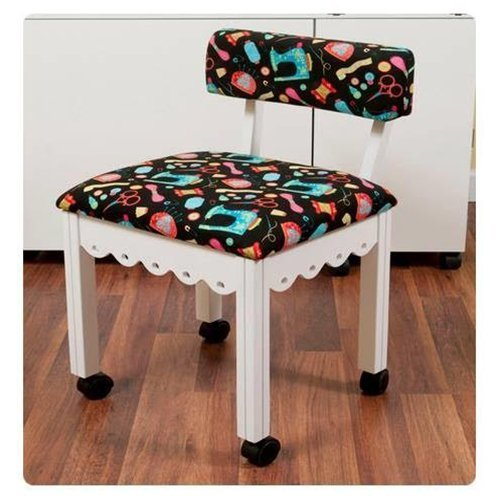 Arrow Sewing Cabinet Craft Room Furniture Wood Fabric Chair