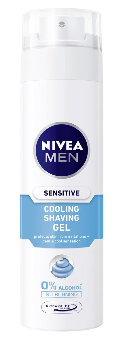 Nivea Men Sensitive Cool Gel de Afeitar sin Alcohol, Pieles Sensibles - 20 cl: Amazon.es: Amazon Pantry