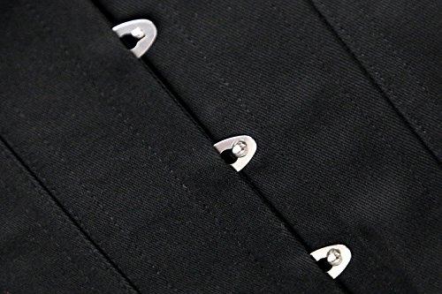 Corset Spiral Overbust Body Charmian Long Boned Shaper Nero Women's Steel Torso zqw1w5IS