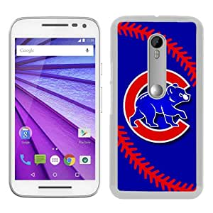 Motorola Moto G 3rd Generation Case ,Unique And Fashionable Designed Case With Chicago Cubs White Moto G 3rd Gen Cover High Quality Phone Case