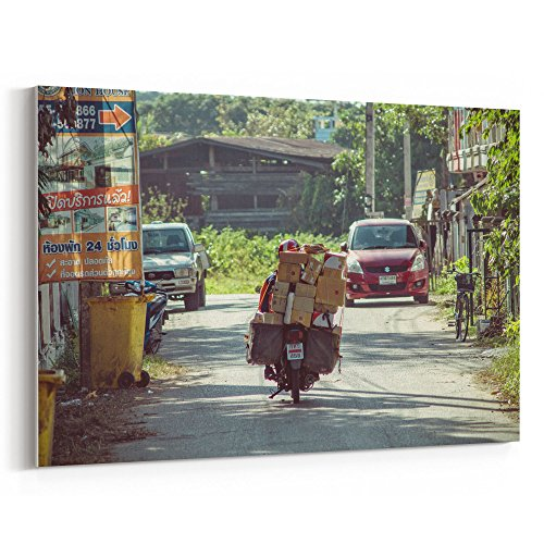 Westlake Art - Delivery Home - 24x36 Canvas Print Wall Art -