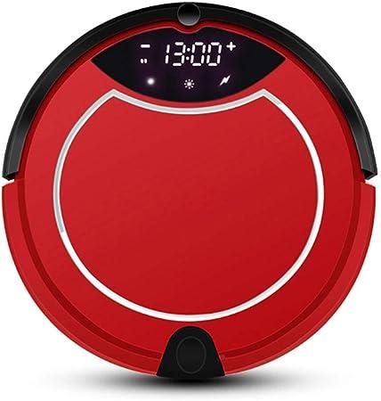 Robot de barrido automático Aspirador robot, control remoto, memoria inteligente, purificador de aire, limpiador de alfombras delgado con motor sin escobillas para barrido automático en el hogar,Red: Amazon.es: Hogar