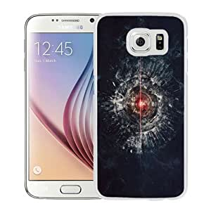 NEW Unique Custom Designed Samsung Galaxy S6 Phone Case With Robot Tech Eye Laser Light_White Phone Case