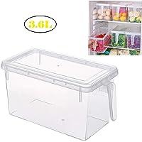 Refrigerator take in Box, Household Kitchen Preservation Box, Rectangular Transparent Plastic Box, Covered Food Finishing Box