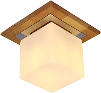 Ceiling Lights European Solid Wood Ceiling Light High Quality Glass Lamp Lid Bedroom Balcony Lighting Led Ceiling Light Living Room Lights Ceiling Lights Amazon De Beleuchtung