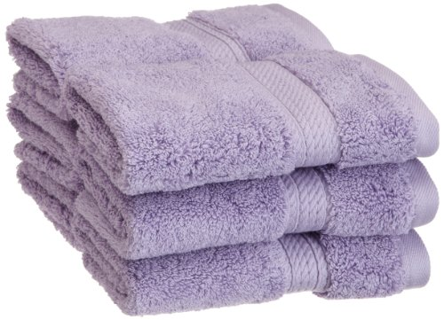 Superior 900 GSM Luxury Bathroom Face Towels, Made of 100% Premium Long-Staple Combed Cotton, Set of 6 Hotel & Spa Quality Washcloths - Purple, 13