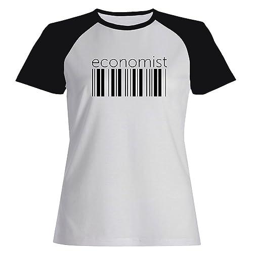 Idakoos Economist barcode - Ocupazioni - Maglietta Raglan Donna