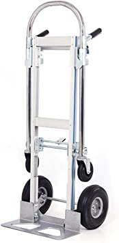 Shzond 2 In 1 Aluminum Hand Truck Dolly 770lbs Weight Capacity Convertible Hand Truck Utility Cart 2 In 1 Amazon Com