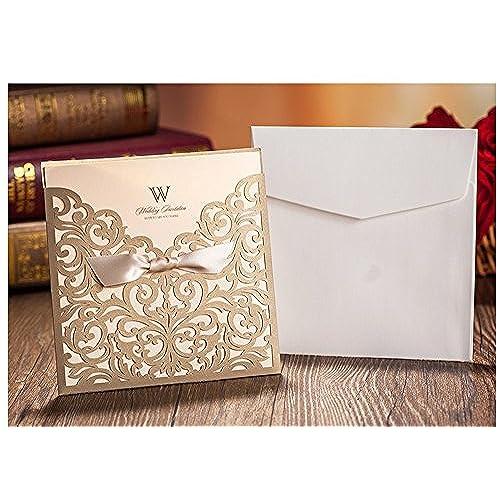 Sparkling Wedding Invitation Amazoncom