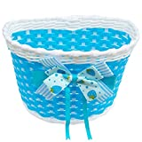 Kids Plastic Woven Easy Installation Bicycle Basket – Blue