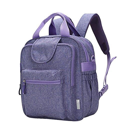 Mummy bolsa de hombro bolsa multifuncional de gran capacidad de luz de la moda de embarazada embarazada materna bebé paquete ( Color : Crystal purple ) Crystal purple