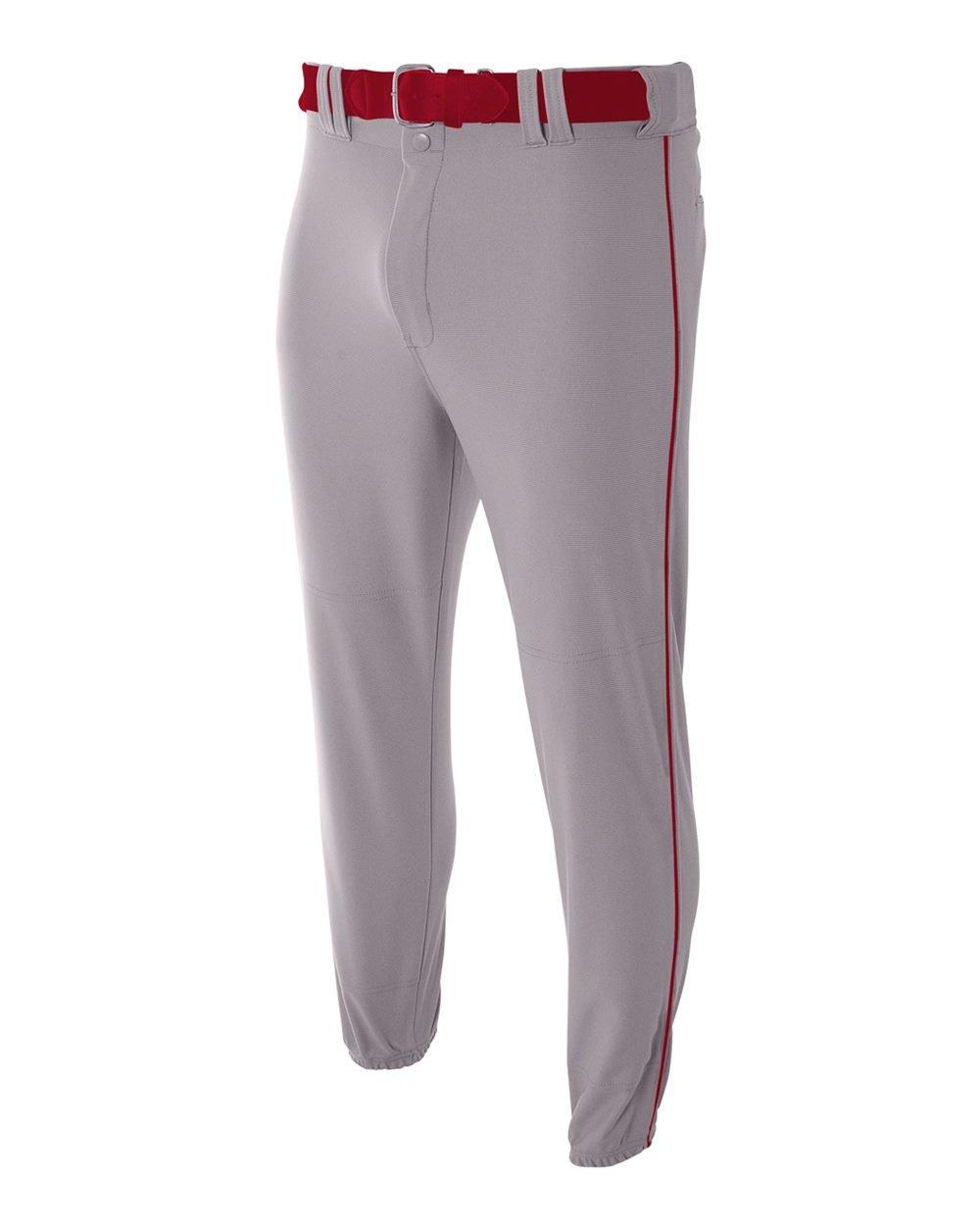 A4Niños 'nb6178nb6178-gyc Pro-Style Baseball Inferior elástico Pantalones, Niños Hombre, Color Grey/Cardinal, tamaño Small Niños Hombre tamaño Small Moshay Inc.