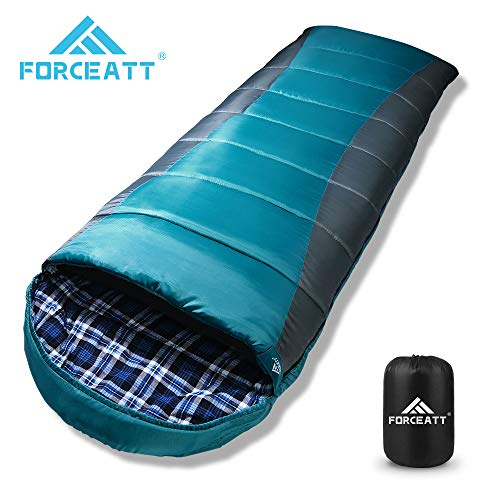 Forceatt Schlafsack Winter für Erwachsene und Jugendliche in -10 ℃ bis 18 ℃ 丨 Ideal für Camping, Rucksackwandern und…