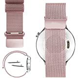 18mm Magnetic Milanese Loop Stainless Steel Magnet Closure Lock Watch Band For Withings Activité, Activité Pop or Activité Steel (YESOO Retail Packaging - 180 Days Warranty) (Rose Gold)