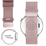 22mm Magnetic Milanese Loop Stainless Steel Magnet Closure Lock Band For Samsung Gear 2, gear 2 Neo, Gear Live (YESOO Retail Packaging - 180 Days Warranty) (Magnetic Loop Rose Gold)