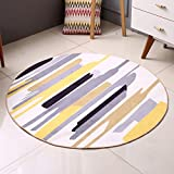 Hyun times Round carpet living room modern Nordic bedroom study computer chair summer thin mat ( Size : 160cm )