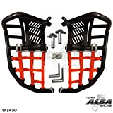 Yamaha YFZ 450 (2004-2009) (2012-2013) Propeg Nerf Bars Black Bars w/ Red Net