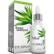 InstaNatural Augenserum - reduziert Krähenfüße, Tränensacke, Falten, hängende Haut und geschwollene Augen - Enthält Vitamin C, Koffein, Pflanzen-Stammzellen, Asta Xanthin und Kojisaeure - 30ml