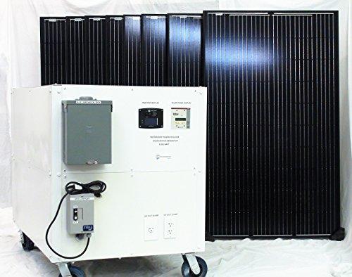 Solar Generator 12 000 Watt Continuous Power Portable