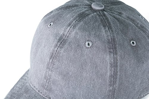 33066411cad Edoneery Men Women Plain Cotton Adjustable Washed Twill Low Profile Baseball  Cap Hat(A1008)