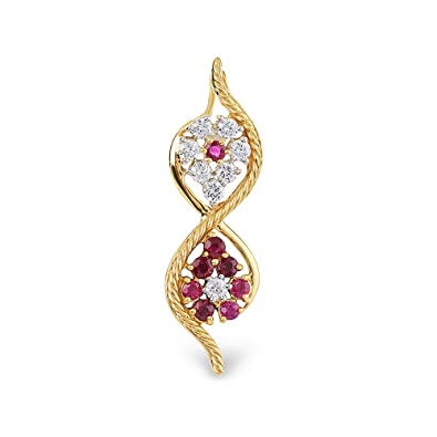 cea992c2fc8d9 Buy Orra Zinia Collection 18k Yellow Gold and Diamond Pendant Online ...