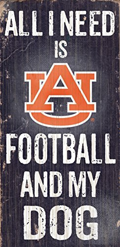 Fan Creations Auburn University Football and My Dog Sign, - The Outlet Auburn Collection