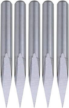 5PCS Carbide Steel Carbide Engraving Bits 0.1mm Cutting Edge Replacements