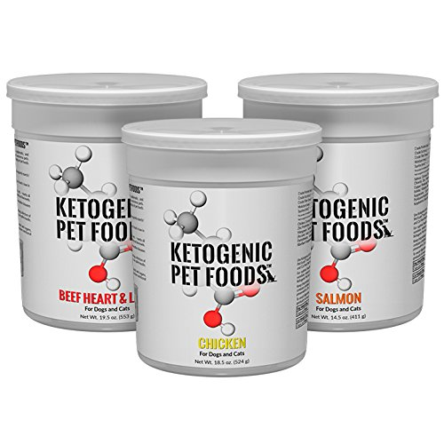 Cheap Ketogenic Variety Pack (Beef Heart & Liver, Chicken, and Wild Caught Salmon) – For Dogs and Cats – Three Pack
