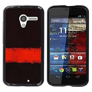 "Pulsar Snap-on Series Teléfono Carcasa Funda Case Caso para Motorola Moto X Motorola Moto X ( 1st Generation ) , Profundo Significado Oscuro Negro Limpiar minimalista"""