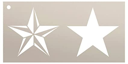 amazon com barn star stencil by studior12 rustic country patternbarn star stencil by studior12 rustic country pattern art small 8 x 4