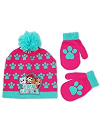 Nickelodeon Toddler Girls Paw Patrol Hat and Mitten Cold Weather Set, Age 2-5