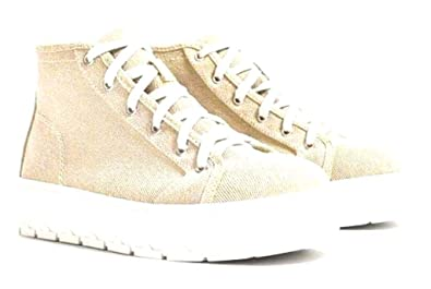 Image Unavailable. Image not available for. Color  Zara TRF Women Canvass  Fabric Platform Sneakers ... 979e56dc188
