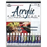 Royal Brush and Langnickel Acrylic Artist Pack, 9-Inch by 12-Inch