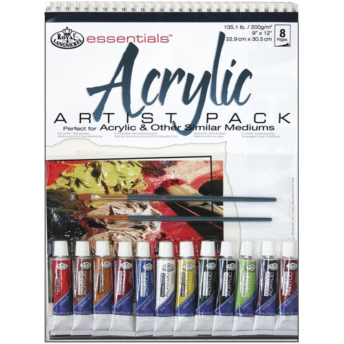 Royal & Langnickel Acrylic Artist Pack, 9-Inch by 12-Inch (Cardboard Tube Halloween Crafts)