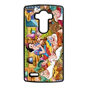 Personality Design Cases Ltlfu LG G4 Cell Phone Case Black Snow White and Seven Dwarfs Firm Durable Shell Cover