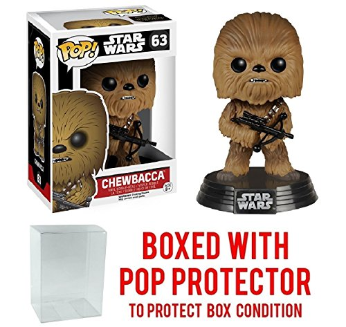 Funko Pop! Star Wars: The Force Awakens - Chewbacca #63 Vinyl Figure (Bundled with Pop BOX PROTECTOR CASE)