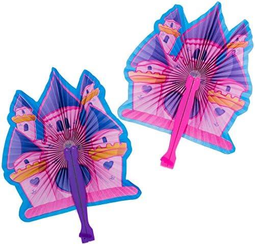 Funny Party Hats Princess Party Supplies - Party Favors - 72 Pc Set - Tiaras, Princess Fans, Treat Boxes & Princess Rings