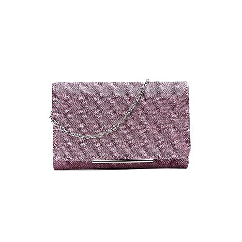 Simple Bag Diva Clutch Pink Silver Glitter Design For Haute nxIYpvxT