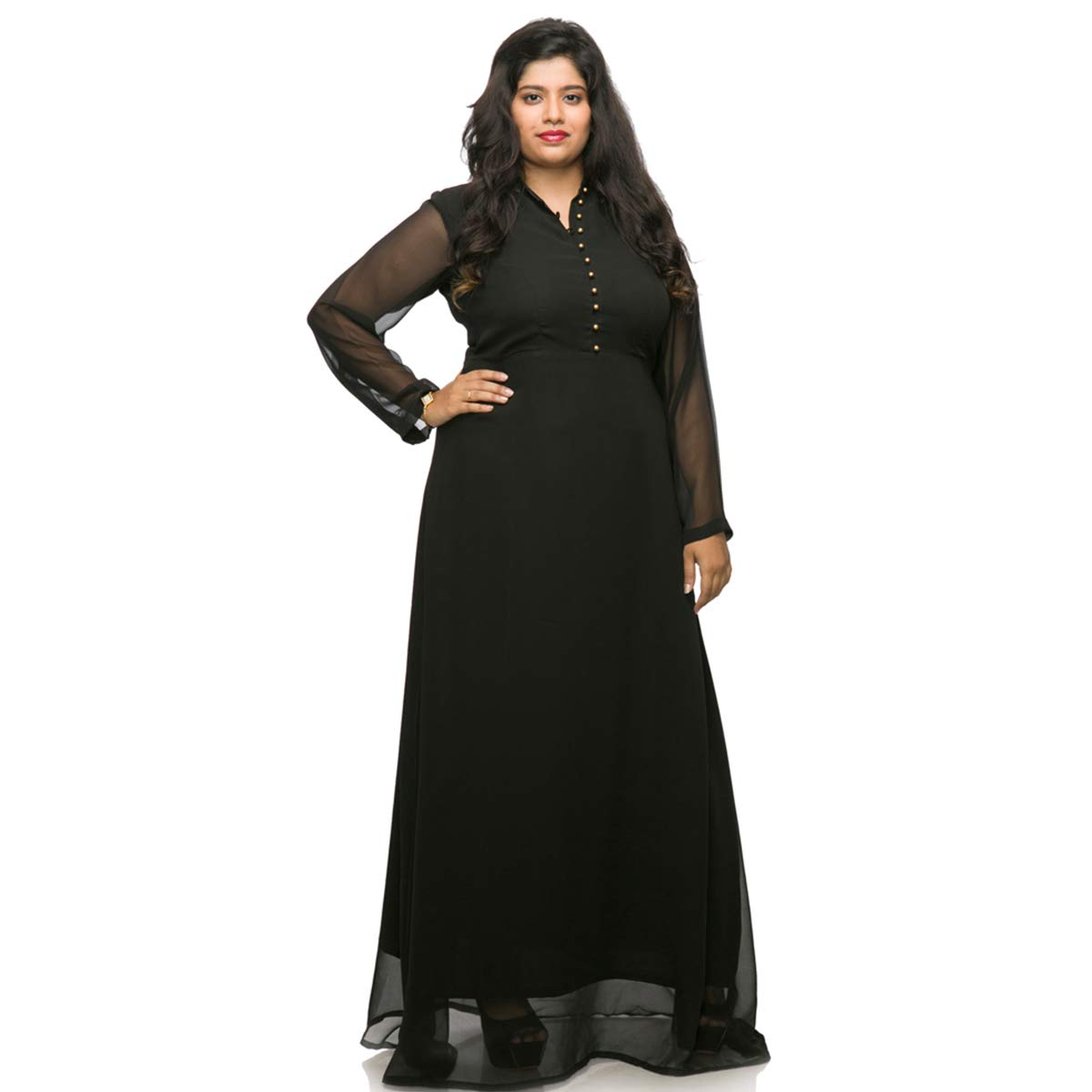398b0bd42fa Xxllent Women s Plus Size Gown  Amazon.in  Clothing   Accessories