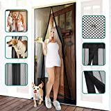 "Homitt Magnetic Screen Door with Heavy Duty Mesh Curtain and Full Frame Hook&Loop FITS Door Size up to 36""-82"" Max: more info"
