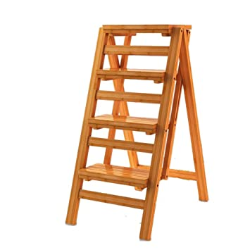 Brilliant Amazon Com Timber Stool 3 Step Ladder Safety Non Slip Machost Co Dining Chair Design Ideas Machostcouk