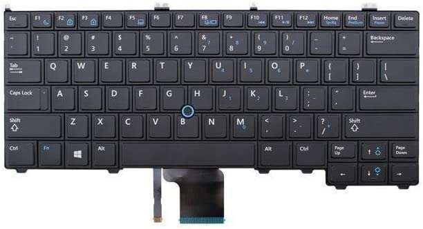Replacement Keyboard No Backlit For Dell Latitude E7440 PK130VN3A00 SG-60700-XUA 4G6VR 04G6VR SN7222 04P5PJ PK130VN1A12 NSK-LD0UC 0U PK130VN1A00 NSK-LD0UC 01, US Layout Black Color