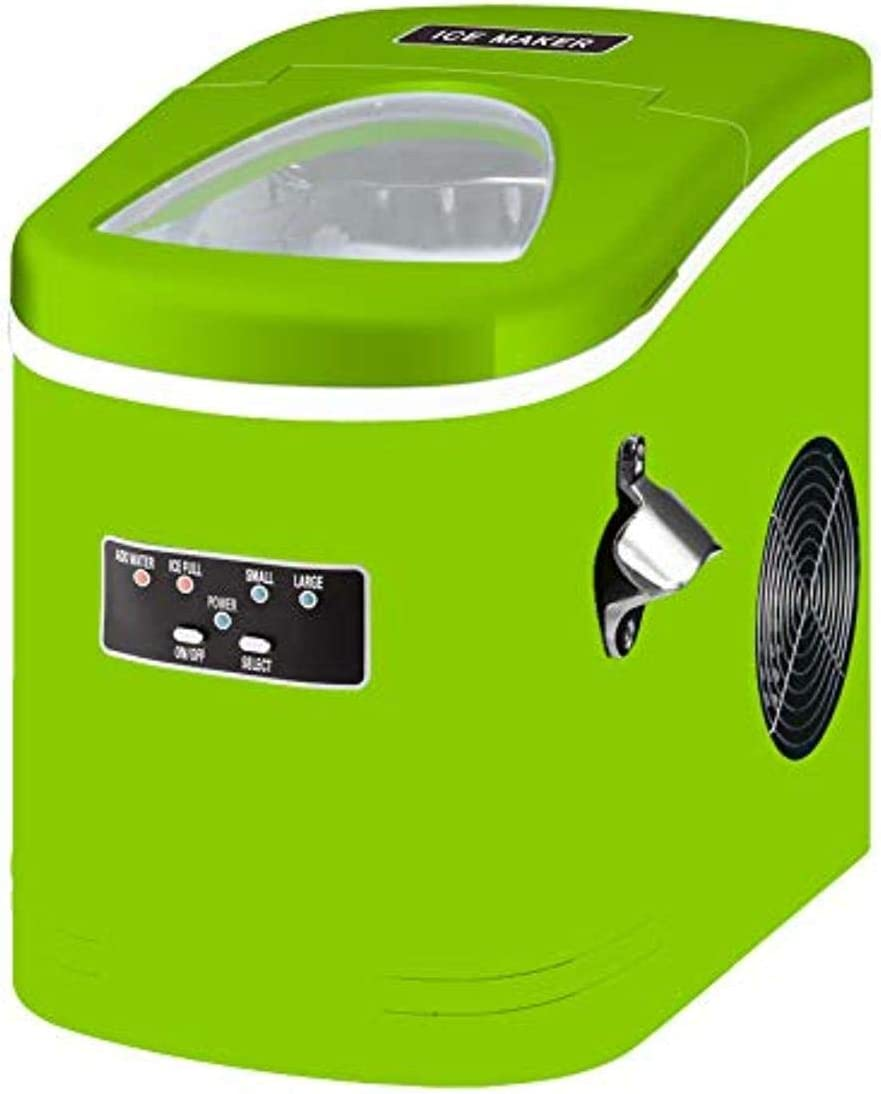 DELUXE, COMPACT ICE MAKER, GREEN